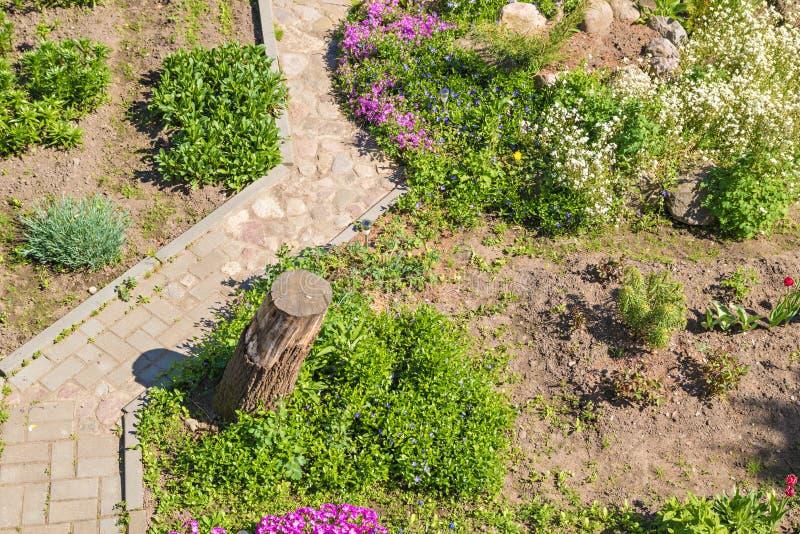 Trädgårds- bana för formgivare royaltyfria foton