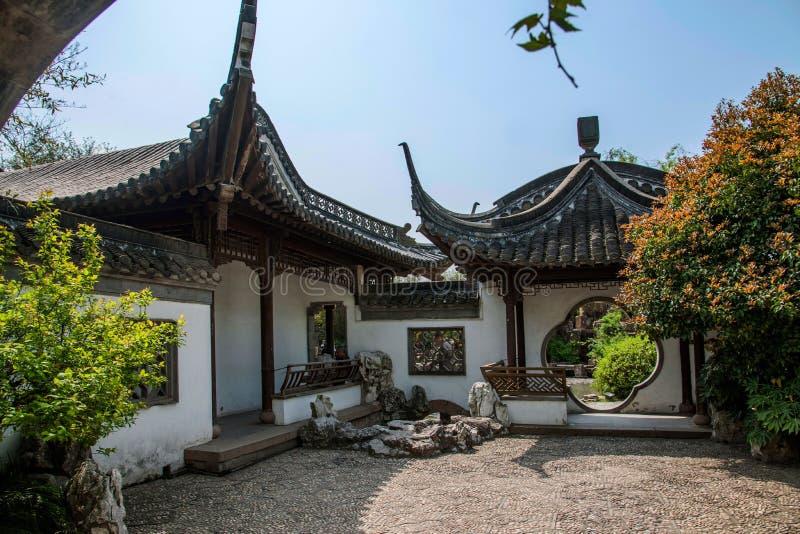 Trädgårds- byggnad av Yangzhou den spensliga västra sjön royaltyfri bild