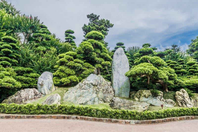 Trädgårds- Chi Lin Nunnery Kowloon Hong Kong arkivbilder