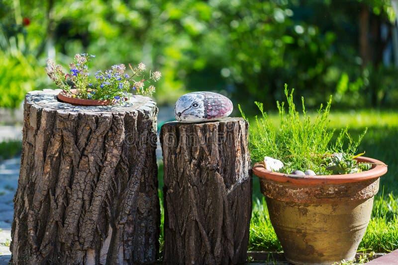 Trädgårds- dekor royaltyfri foto