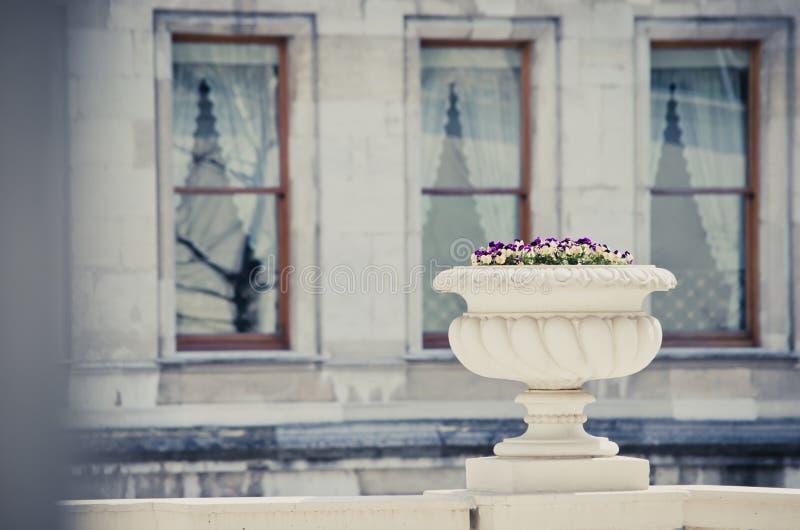 trädgårds- dekorativ urn arkivbilder