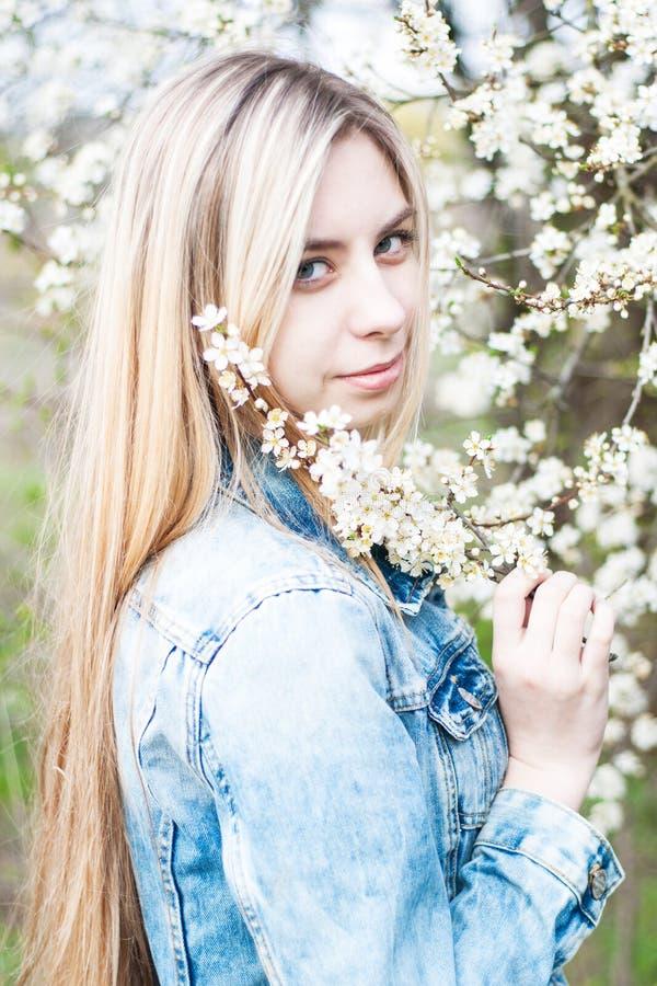 trädgårds- flickafjäder royaltyfri foto