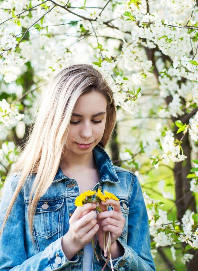 trädgårds- flickafjäder arkivfoton