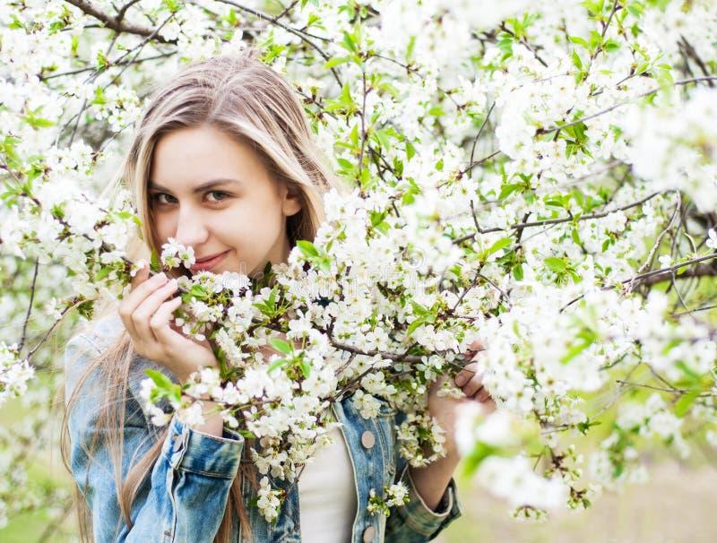 trädgårds- flickafjäder royaltyfri bild