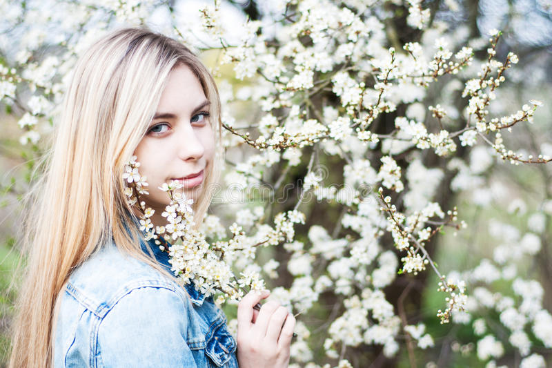 trädgårds- flickafjäder royaltyfria foton