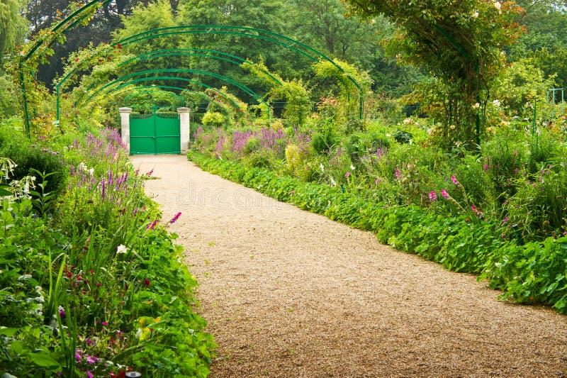 trädgårds- giverny monet s royaltyfri foto