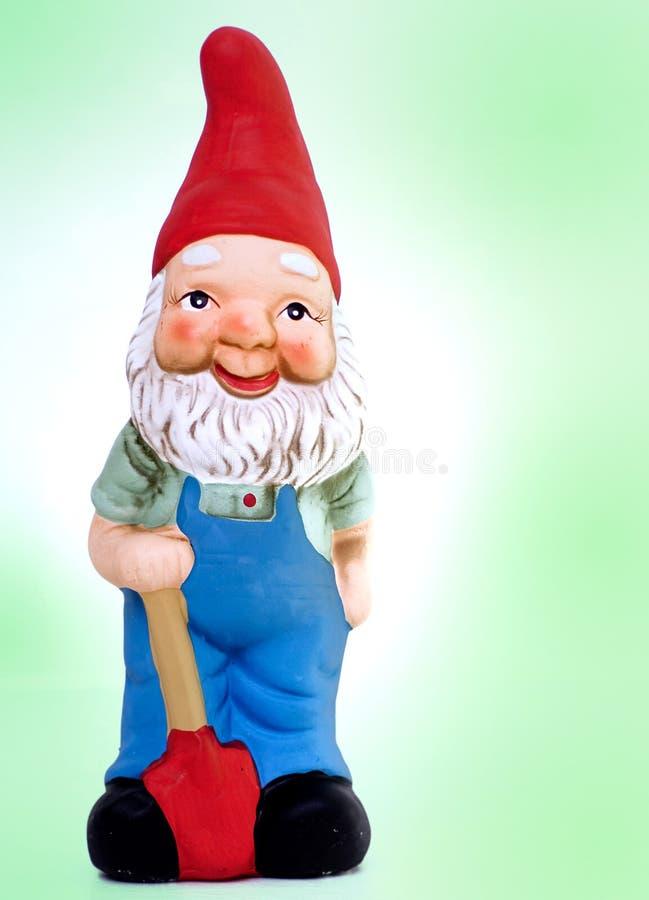 trädgårds- gnomestaty arkivfoton