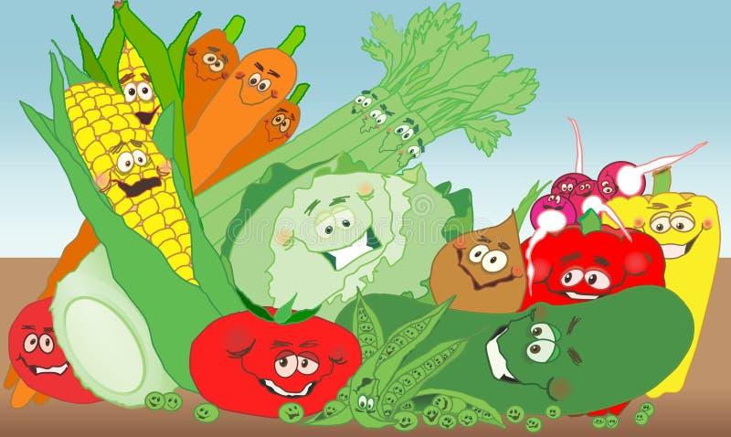 trädgårds- grönsak för gyckel vektor illustrationer
