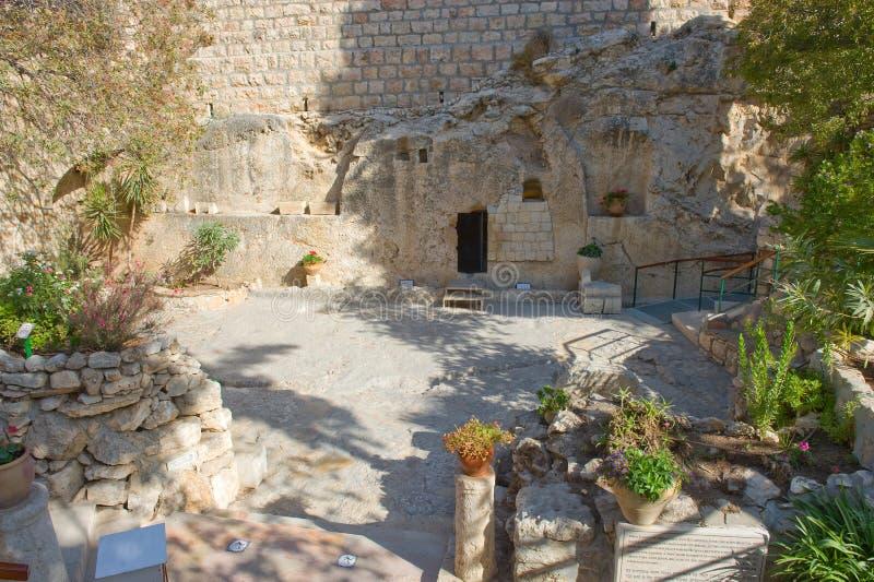 Trädgårds- gravvalv i Jerusalem fotografering för bildbyråer