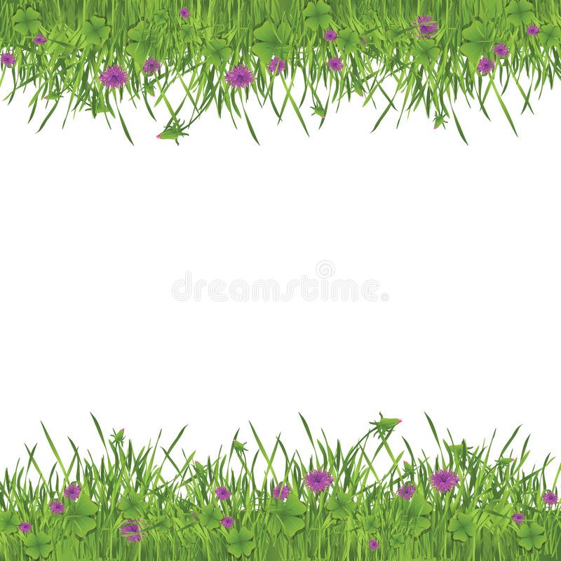 trädgårds- green för ram royaltyfri illustrationer