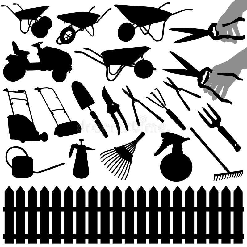trädgårds- hjälpmedel royaltyfri illustrationer