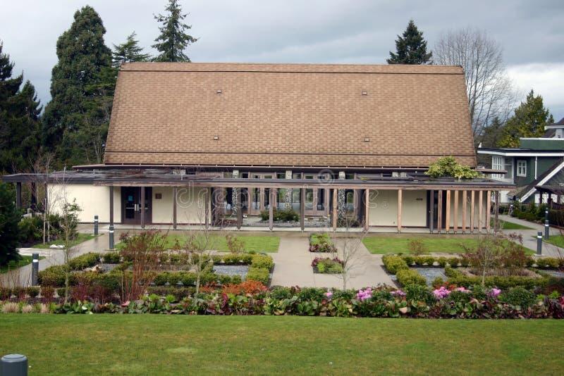 trädgårds- hus arkivbilder