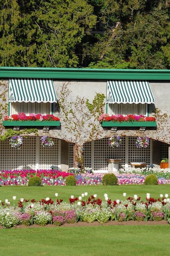 trädgårds- hus arkivbild