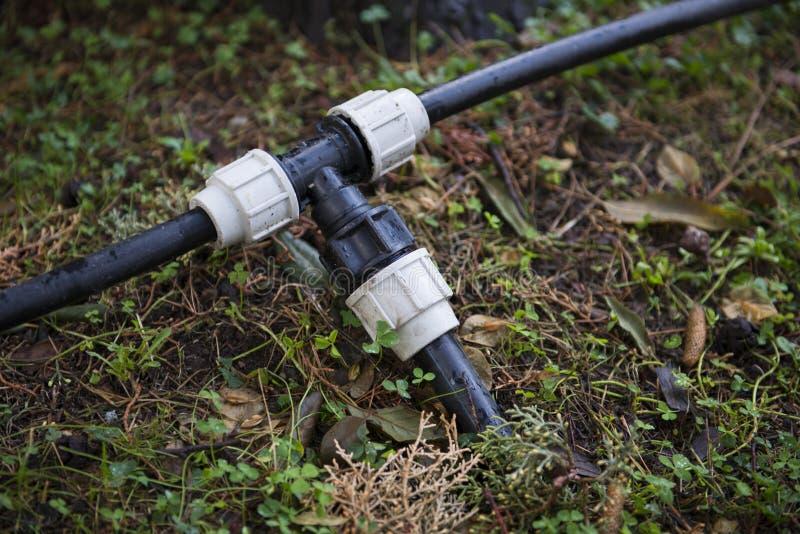 Trädgårds- hydraulisk anslutning royaltyfria foton