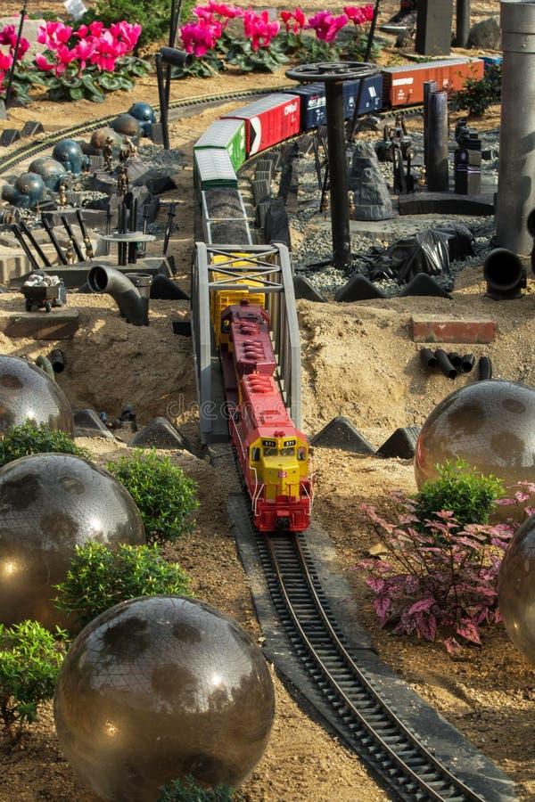 Trädgårds- järnvägdrev fotografering för bildbyråer