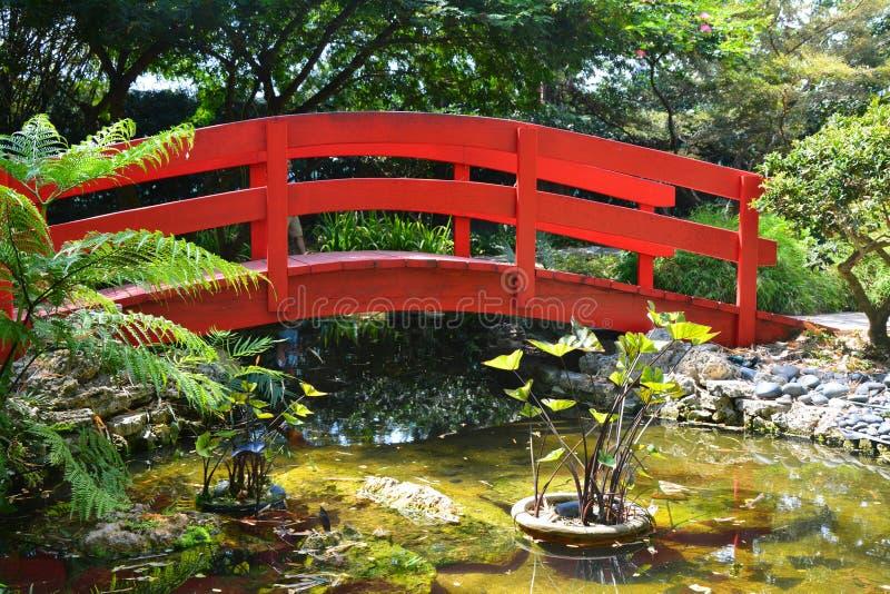 trädgårds- japan för bro royaltyfria bilder