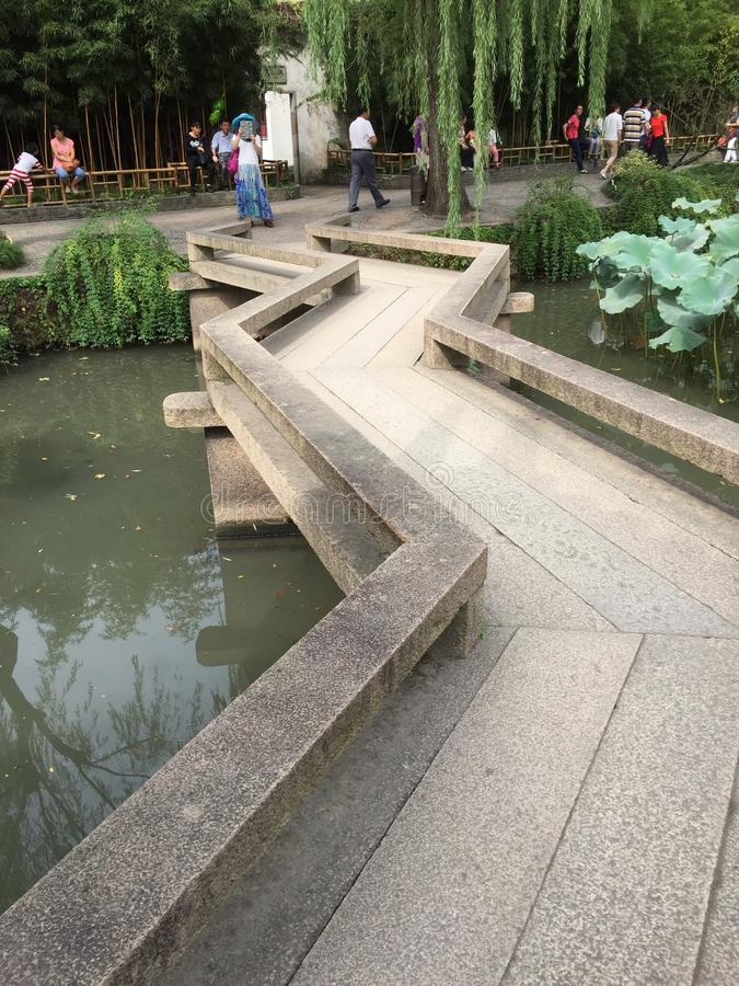 Trädgårds- kinesisk stil royaltyfria bilder
