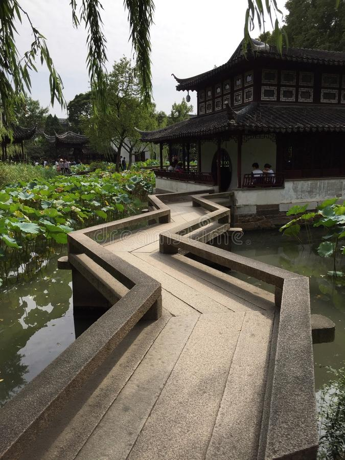 Trädgårds- kinesisk stil arkivbild