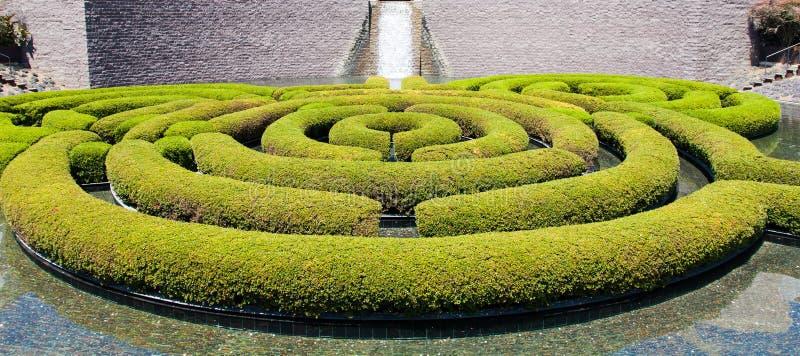 Trädgårds- labyrint royaltyfri fotografi