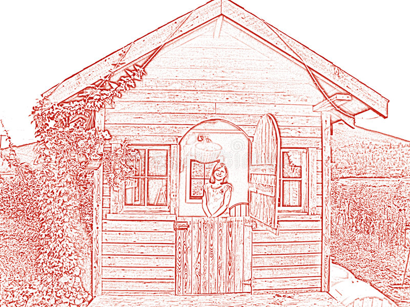 trädgårds- lekstuga royaltyfri bild