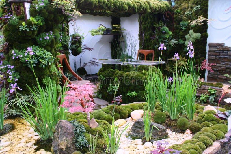 trädgårds- moss royaltyfri fotografi
