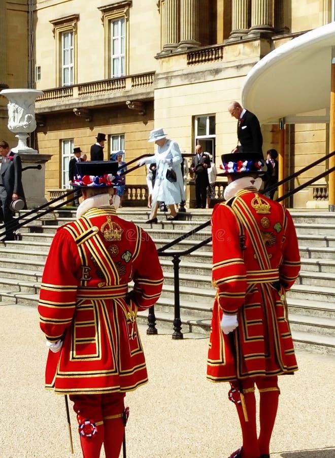 Trädgårds- parti Buckingham Palace london arkivfoto
