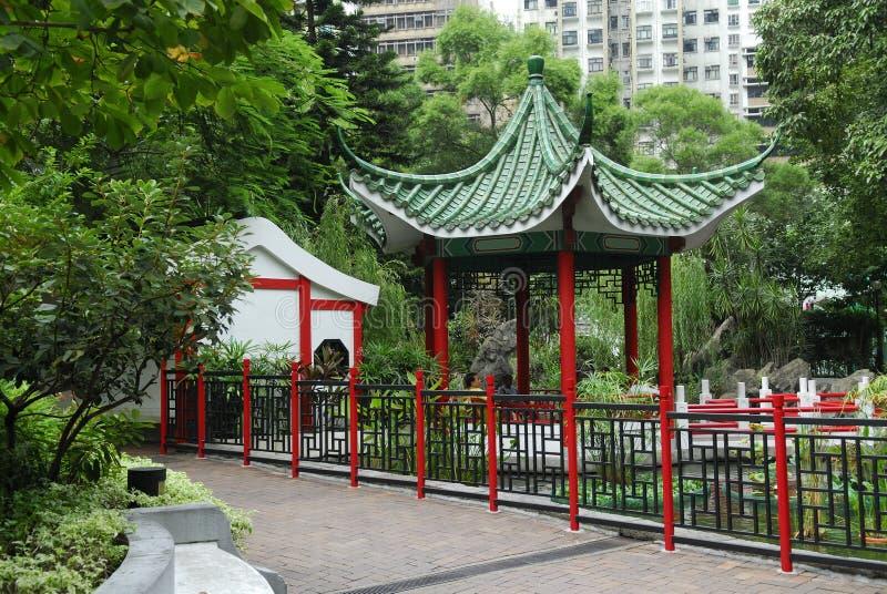 trädgårds- paviljong för kines royaltyfri fotografi