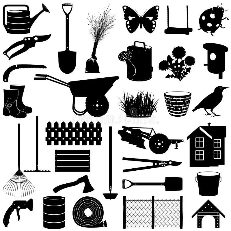 Trädgårds- Pictogram för vektor vektor illustrationer
