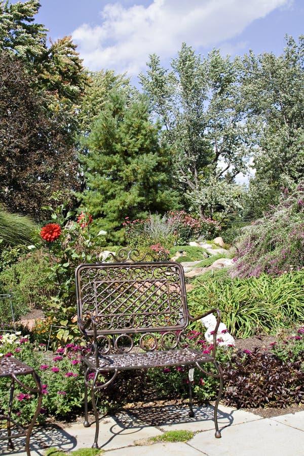 trädgårds- plats arkivbilder