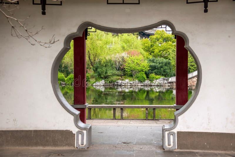 Download Trädgårds- Port Och Fönster Av Den Liyuan Trädgården In Fotografering för Bildbyråer - Bild av berömdt, utomhus: 78725153