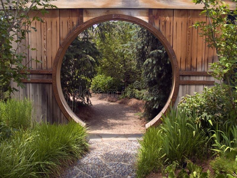 trädgårds- portjapan royaltyfri foto