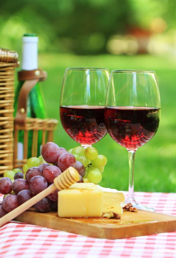 trädgårds- rött vin royaltyfri fotografi