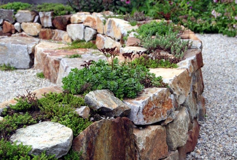 trädgårds- rock royaltyfri bild