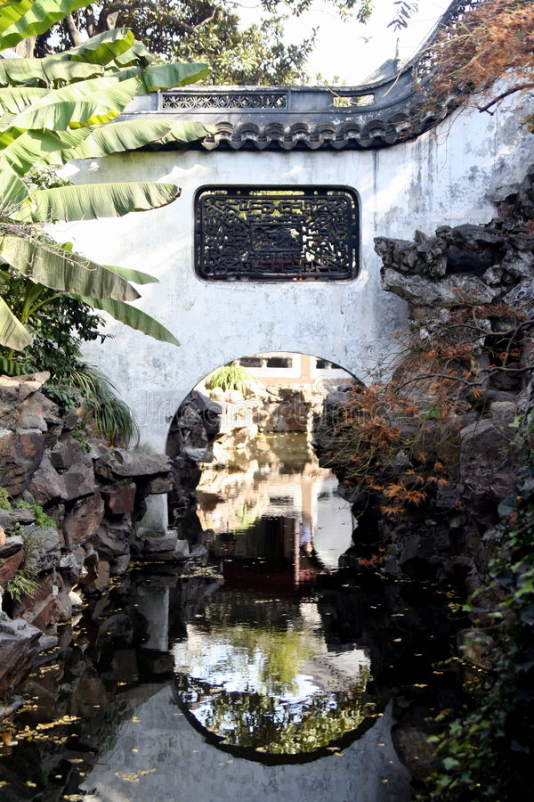 trädgårds- shanghai yu arkivfoton