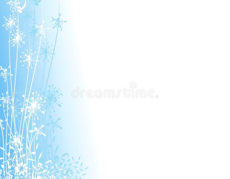 trädgårds- silhouettevinter för blue stock illustrationer