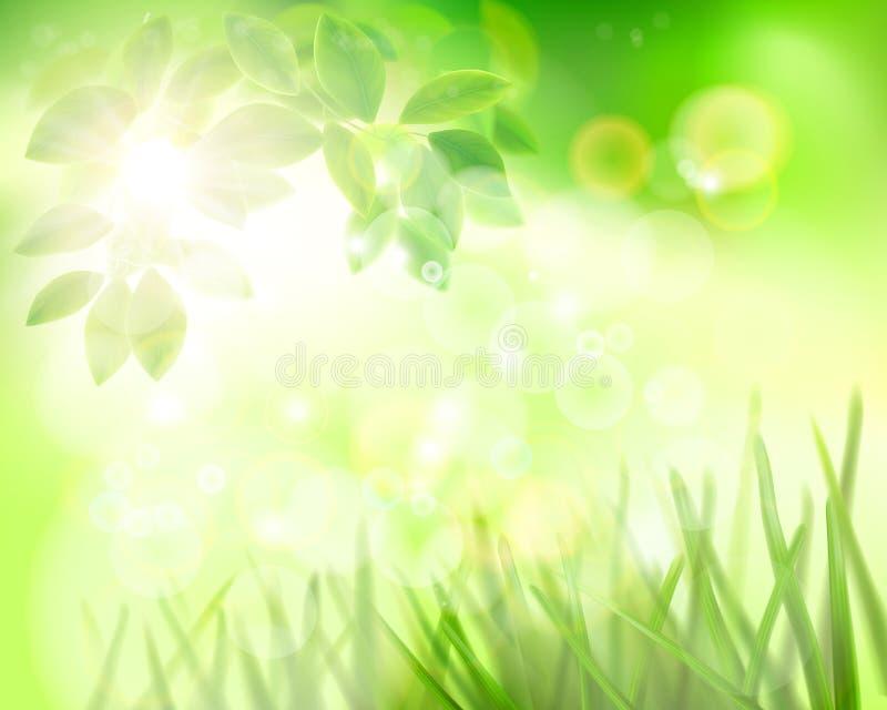 trädgårds- soligt för dag också vektor för coreldrawillustration royaltyfri illustrationer