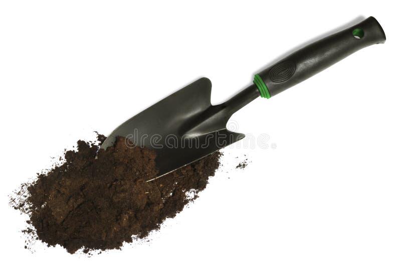 trädgårds- spade royaltyfri fotografi