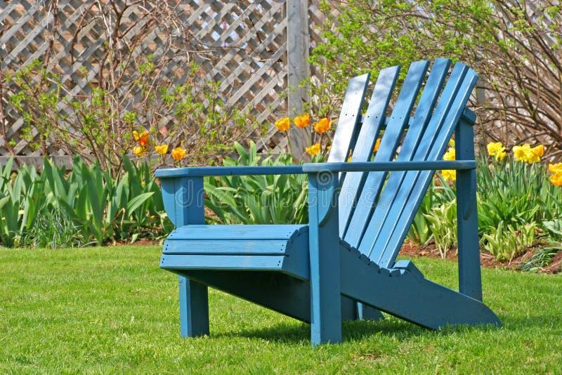 Trädgårds- stol arkivbilder