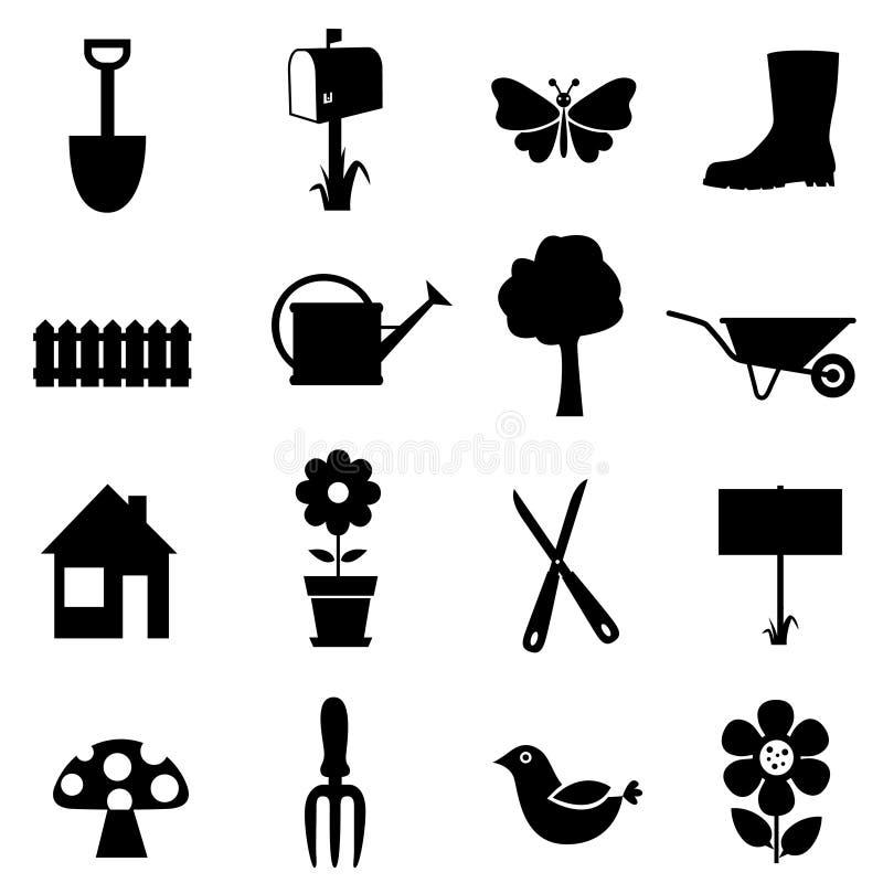 trädgårds- symbol vektor illustrationer