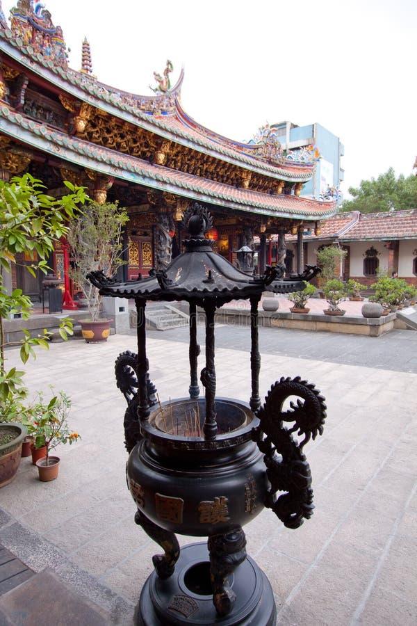 trädgårds- taiwan tempel arkivbilder