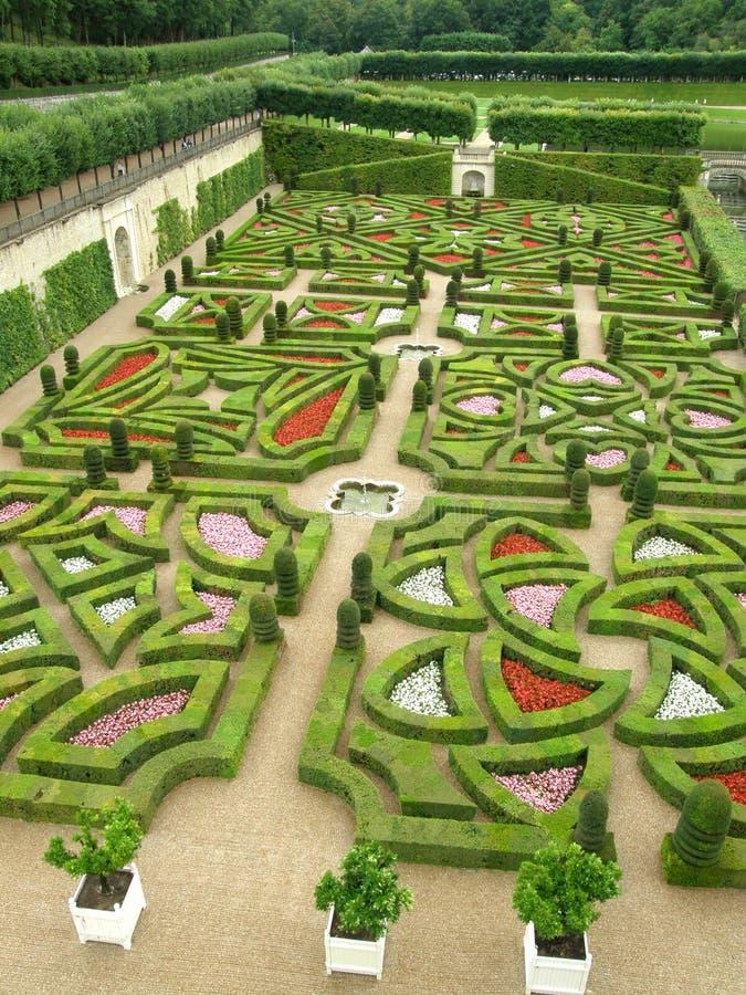 trädgårds- villandry royaltyfri foto