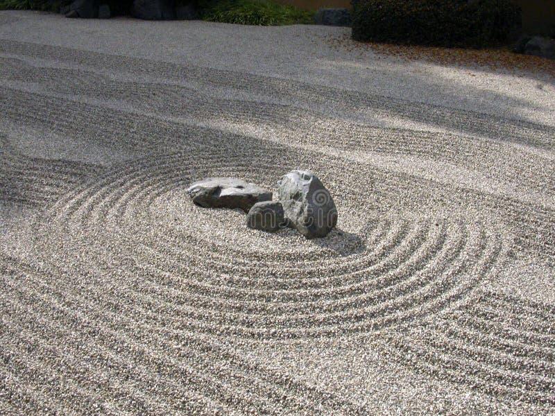 trädgårds- zen arkivbilder