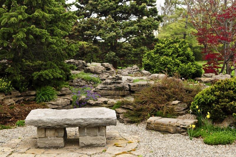 trädgårds- zen royaltyfri fotografi
