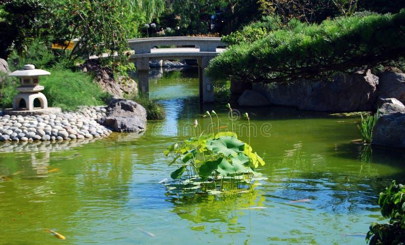 trädgårds- zen royaltyfria foton