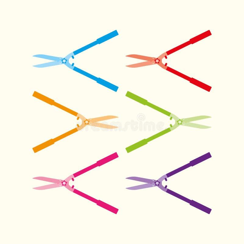 trädgårdsax stock illustrationer