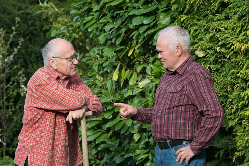 trädgårdsmästarar två arkivbild