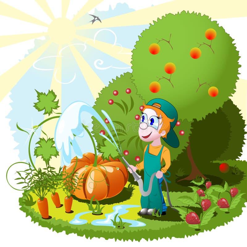 trädgårdsmästare royaltyfri illustrationer