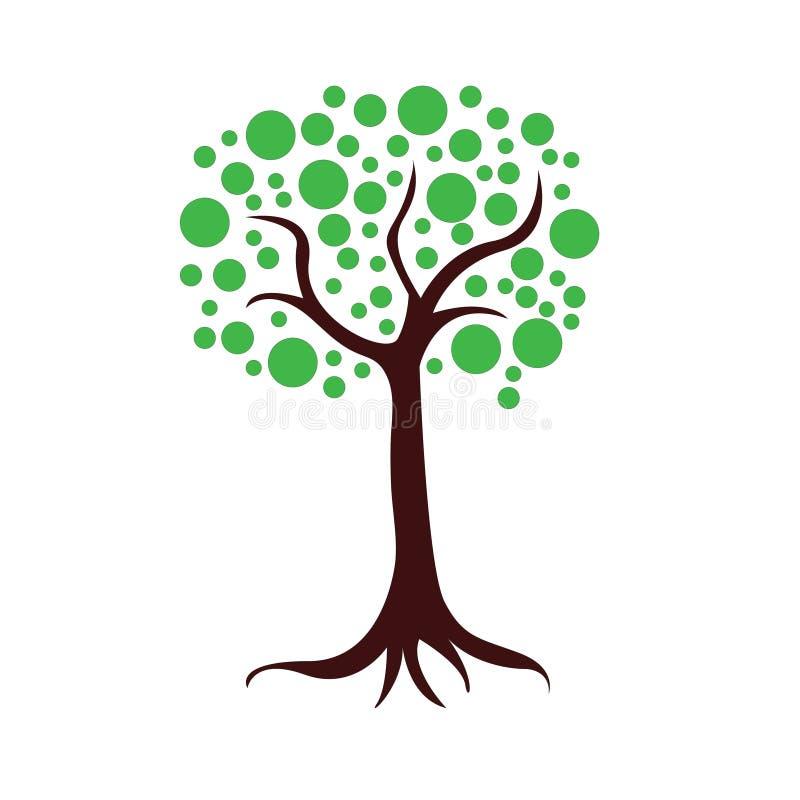 Trädillustrationgoda för logo eller etc. Design vektor illustrationer