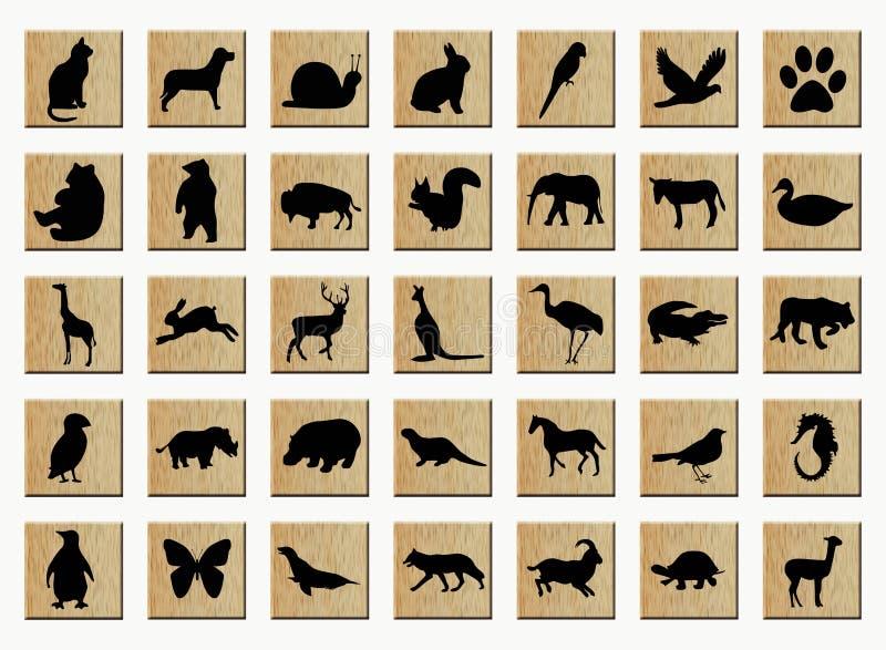 trädjurknappar stock illustrationer