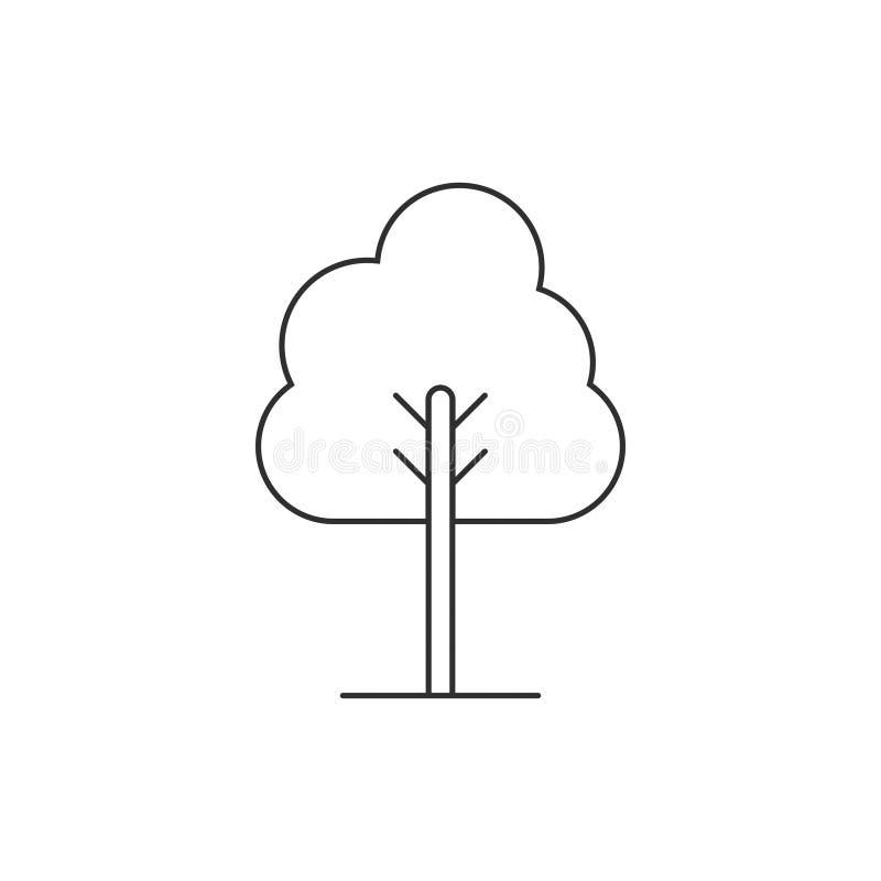 Trädlinjen symbolsvektor isolerade 4 royaltyfri illustrationer